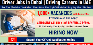 Driving Jobs in Dubai with Contact Numbers and Salaries, Urgent Driver Job Vacancies in Dubai UAE