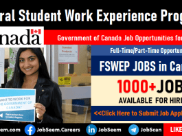 Federal Student Work Experience Program FSWEP Jobs in Canada