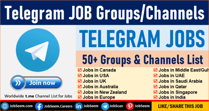 Best Telegram Group for Job Seekers, Find T.Me Job Channels for Freshers and Freelancers