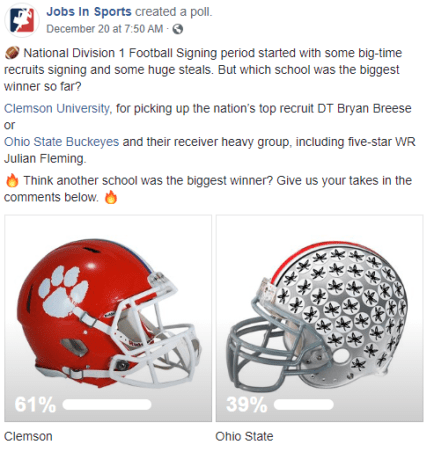 Facebook post: football emoji National Division I football signing period started with some big-time recruits signing and some huge steals. But which school was the biggest winner so far Clemson University, for picking up the nation's top recruit DT Bryan Breese or Ohio State Buckeyes and their receiver heavy group, including five-star WR Julian Fleming. fire emoji Think another school was the biggest winner? Give us your takes in the comments below. fire emoji