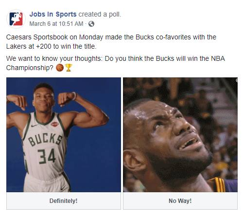 Caesars Sportsbook on Monday made the Bucks co-favorites with the Lakers at +200 to win the title. We want to know your thoughts: Do you think the Bucks will win the NBA Championship? basketball emoji trophy emoji