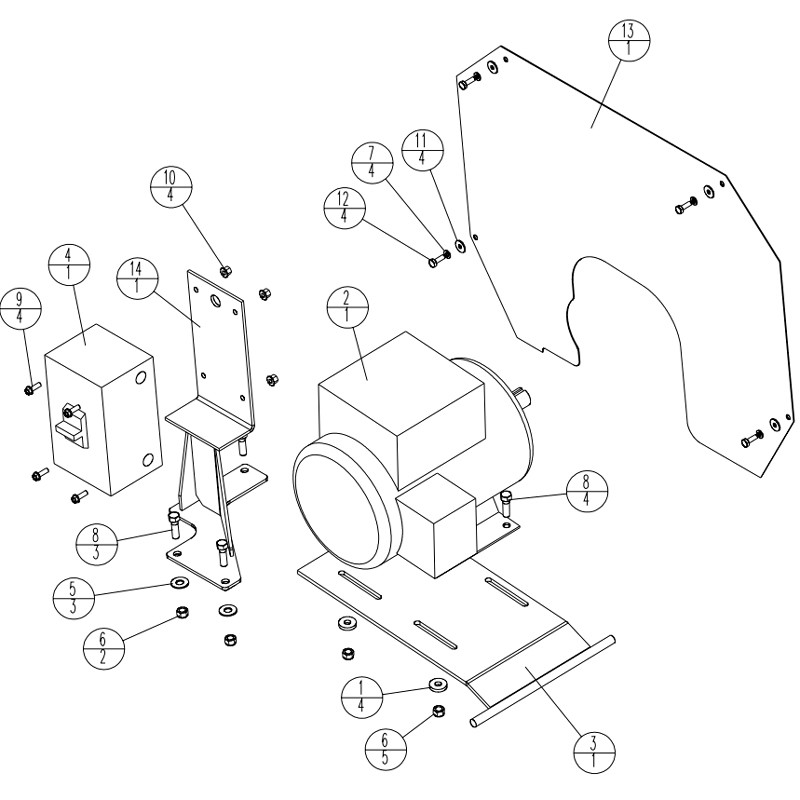 Stone EXD850 3HP-ELECTRIC Drive System Parts