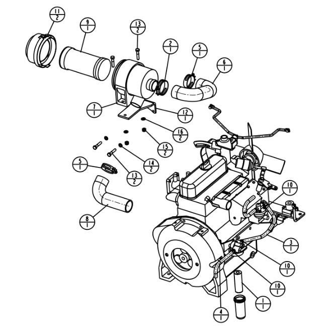 Stone WP4100 WolfPac Vibratory Asphalt Roller Parts