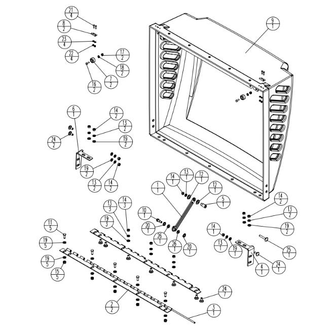 Stone WolfPac 3100 Vibratory Gas Asphalt Roller Parts