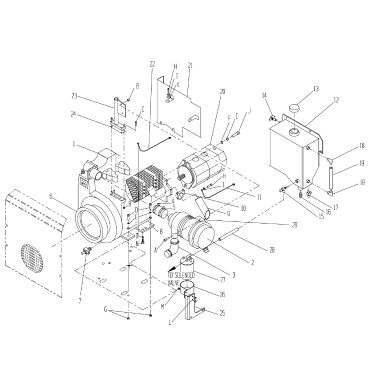 Stone RD24HT Bulldog Trench Roller Compactor Parts