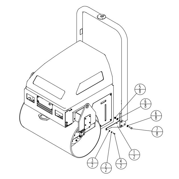 Stone WP6100 WolfPac Vibratory Asphalt Roller Parts