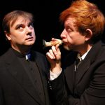 Brian Shea and David M. Jenkins in Jobsite's The Lonesome West. (Photo by Pritchard Photography.)