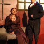 Katrina Stevenson and Owen Robertson in Jobsite's Quills. (Photo by Brian Smallheer.)