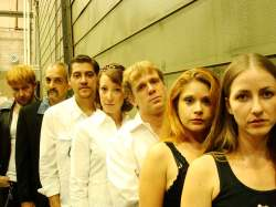 The Ensemble of Jobsite's Hurlyburly. (Photo by Brian Smallheer.)