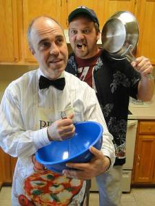 (L-R) Paul Potenza and Shawn Paonessa in Jobsite's The Odd Couple. (Photo by Brian Smallheer.)