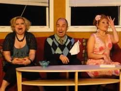 (L-R) Summer Bohnenkamp, Paul Potenza and Katrina Stevenson in Jobsite's The Odd Couple. (Photo by Brian Smallheer.)