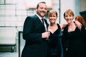 Shawn Paonessa, Elizabeth Fendrick and Meg Heimstead at Jobsite's 2014 Gala. (Photo by Crawford Long.)