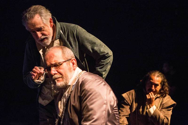 (L-R) Michael Mahoney, Alvin Jenkins and Cornelio Aguilera in Jobsite's The Tempest. (Photos by Pritchard Photography.)