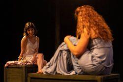 (L-R) Tatiana Baccari and Katrina Stevenson in Jobsite's Othello. (Photo by Pritchard Photography.)