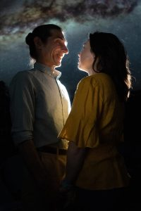 Giles Davies and Georgia Mallory Guy in Jobsite's Constellations. (Photo courtesy Pritchard Photography.)