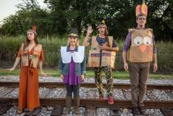 The cast of Jobsite's The Thanksgiving Play. (Photo: Pritchard Photography.)