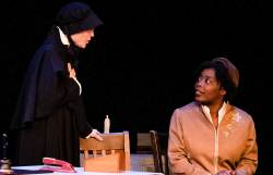 (L-R) Roxanne Fay and Andresia Moseley in Jobsite's Doubt: A Parable. (Photo: Pritchard Photography)