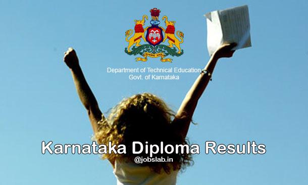 DTE Karnataka Diploma Results Declared on Official Website