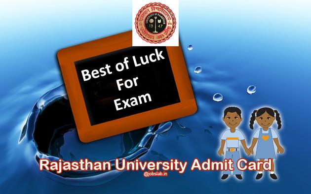 Rajasthan University Admit Card Download Uniraj Admit Card for UG PG Semester Exam