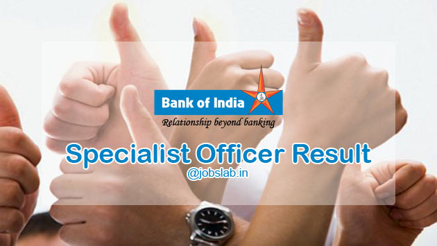 BOI Specialist Officer Result 2016 - Check BOI SO Cut Off and Merit List
