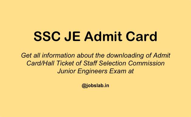 ssc-je-admit-card