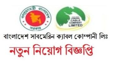 Photo of Bangladesh Submarine Cable Company Limited (BSCCL) Job Circular 2019