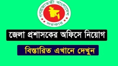 Photo of Deputy Commissioner's Office Job Circular 2019