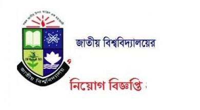 Photo of National University Job Circular 2019