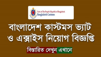 Photo of Bangladesh Customs Excise and VAT Commissionrate Job Circular 2019