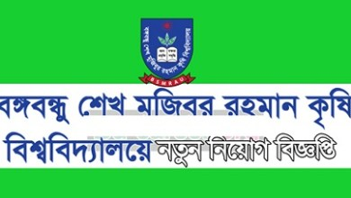 Photo of Bangabandhu Sheikh Mujibur Rahman Agricultural University Job Circular 2020