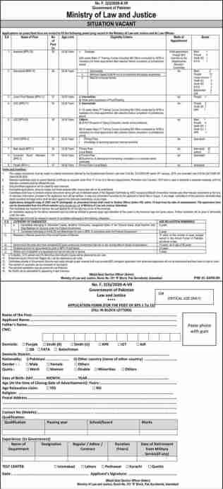 Ministry Of Law and Justice Jobs November 2020 Latest