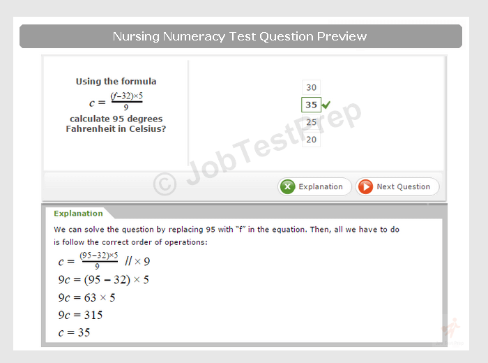 Nursing Numeracy & Literacy Test Preparation for