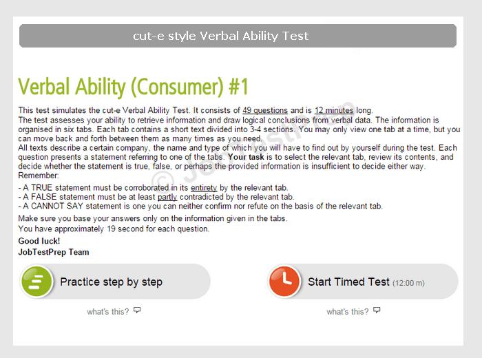 cute Verbal Ability Tests Preparation  JobTestPrep