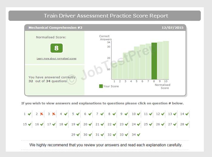 Train Driver Test Questions Practice Online JobTestPrep