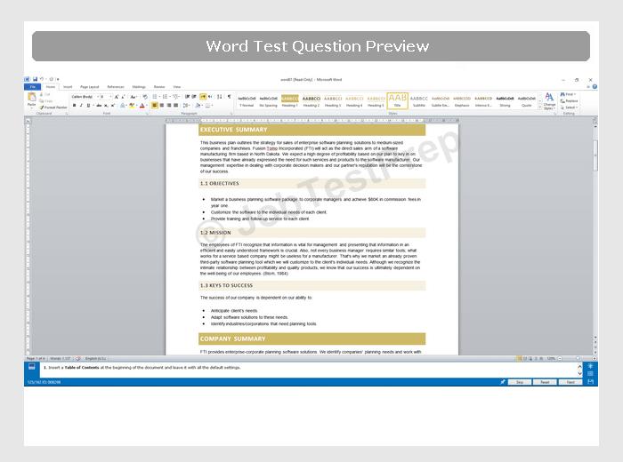 Word 2010 Intermediate-Advanced Preparation, Samples