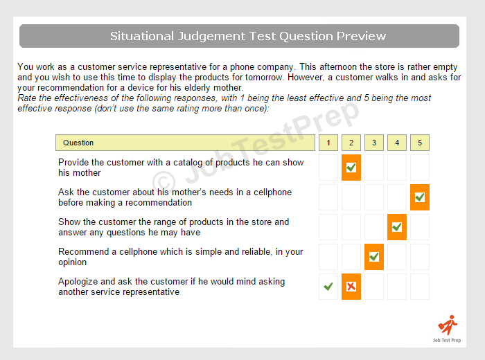 Customer Service Situational Judgement Test Preparation