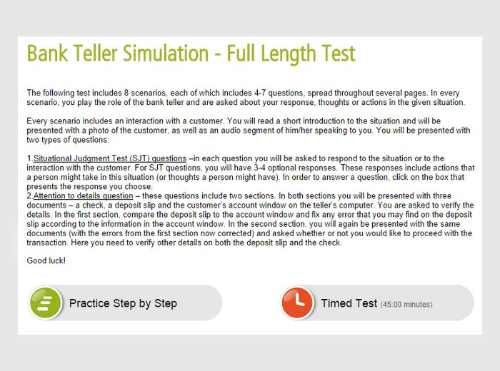 Prepare for Chase Teller Assessment Test  Online Practice