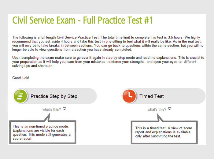 Civil Service Practice Test  Guides by Profession