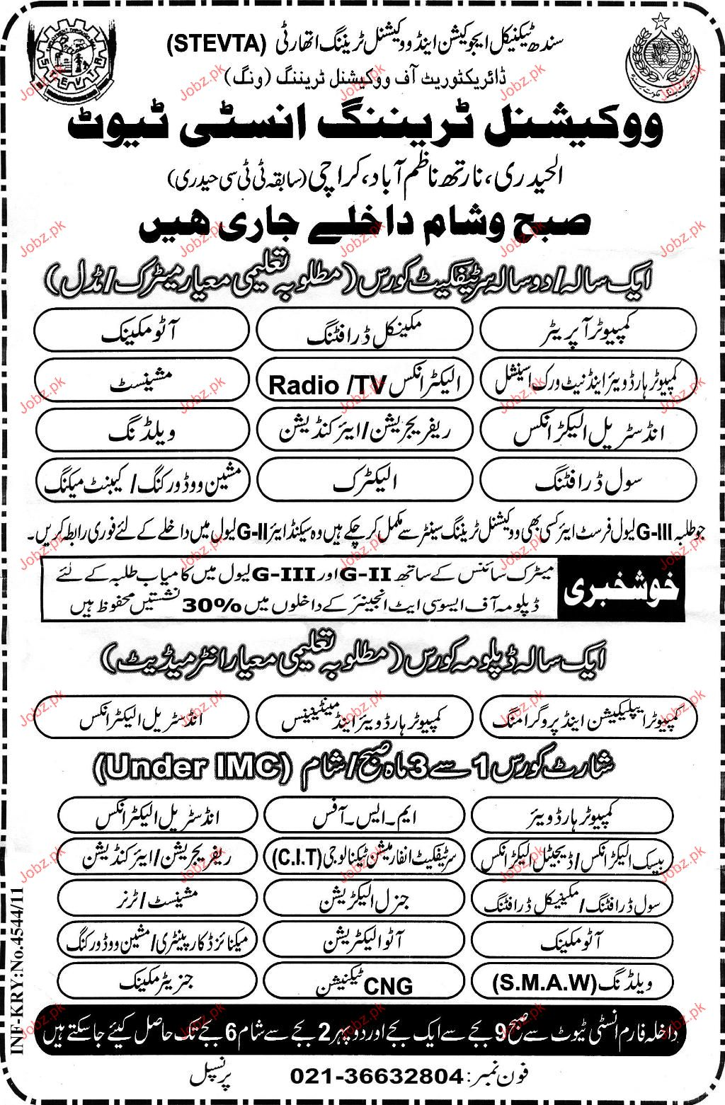 Admission Open in Vocational Training Institute 2019