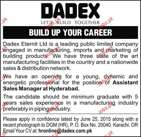 Assistant Sales Manager Job Opportunity 2019 Job