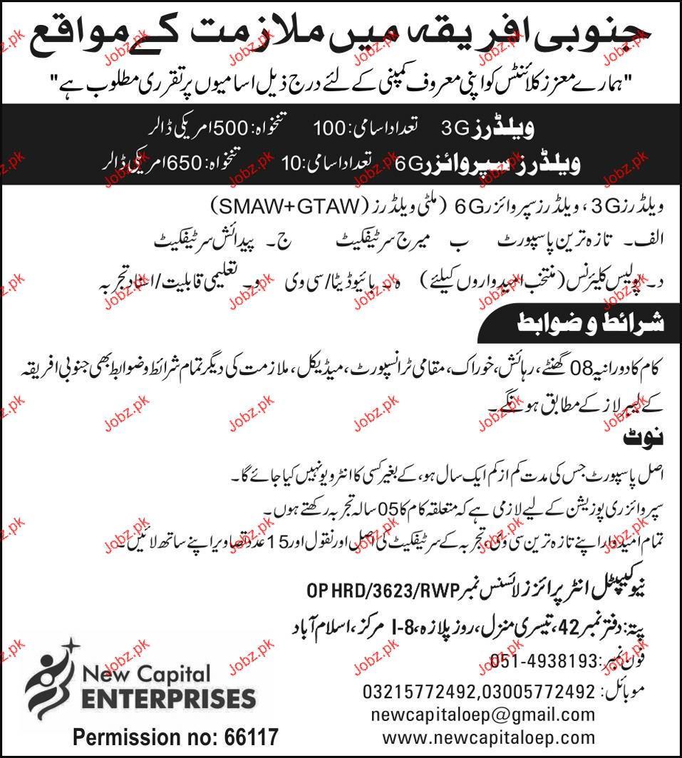 Welders, Welder Supervisors Job Opportunity 2019 Job