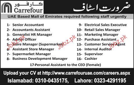 Senior Accountant, Admin officer, Supervisor Job