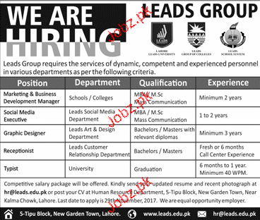 Marketing Business / Development Manager Job Opportunity 2018 Jobs ...