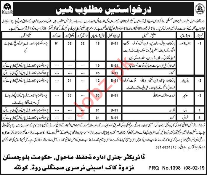 Environmental Protection Department Jobs 2019 in Quetta