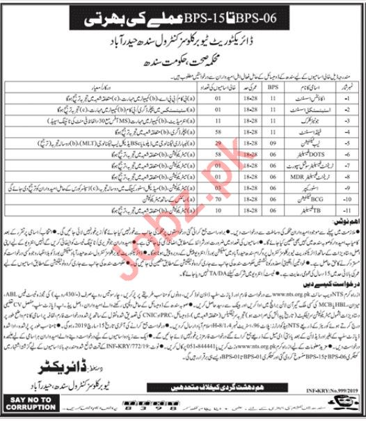 Clerical Staff jobs in Tuberculosis Control Program 2019