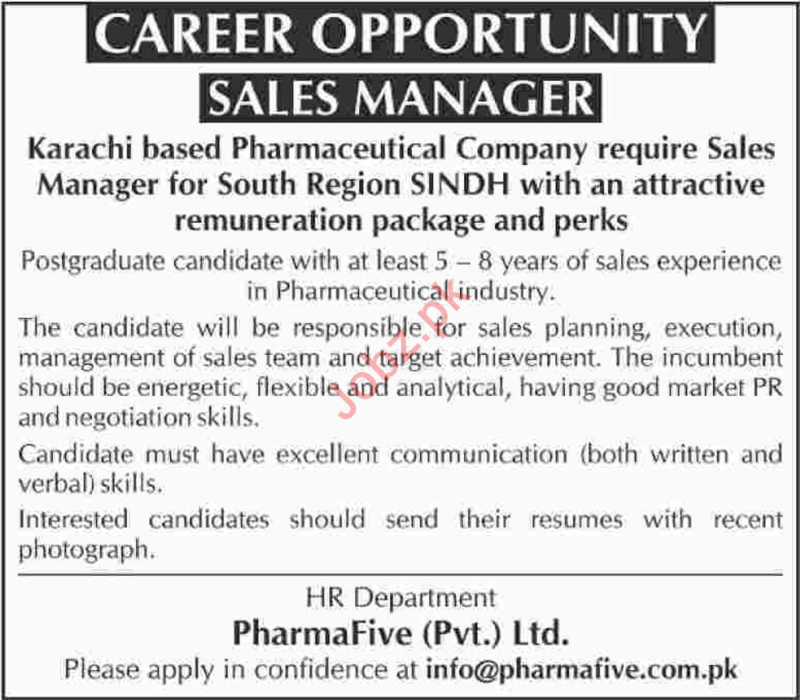 Sales Manager Job 2019 in Karachi Sindh 2019 Job