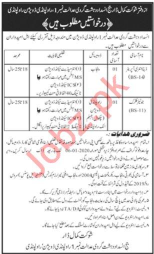 Anti Terrorism Court Rawalpindi Jobs 2020 for Data Entry