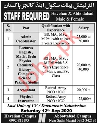International Public School & College Abbottabad Jobs 2020