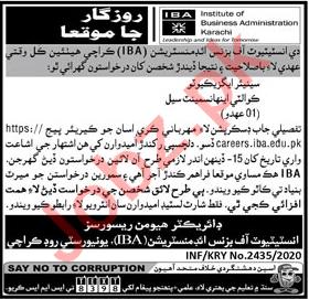 Senior Executive Quality Enhancement Cell Jobs IBA Karachi