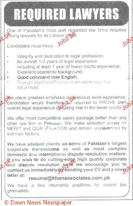 Lawyers Job Opportunity 2019 Job Advertisement Pakistan